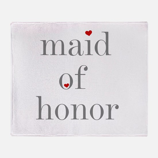 Funny Bridal party Throw Blanket