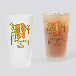 Honeymoon Aruba Drinking Glass