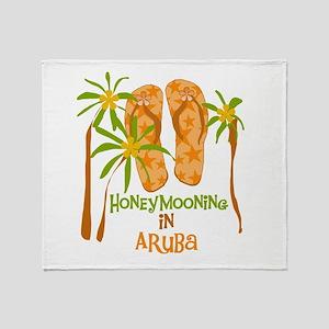 Honeymoon Aruba Throw Blanket