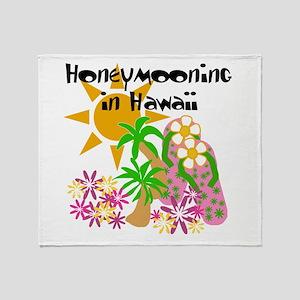 Honeymoon Hawaii Throw Blanket