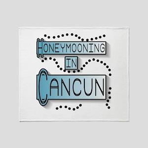 Blue Honeymoon Cancun Throw Blanket
