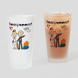 Stick Figures Honeymooner Drinking Glass