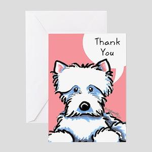 Cute Westie Thank You Greeting Card