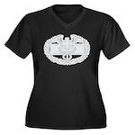 CFMB Women's Plus Size V-Neck Dark T-Shirt