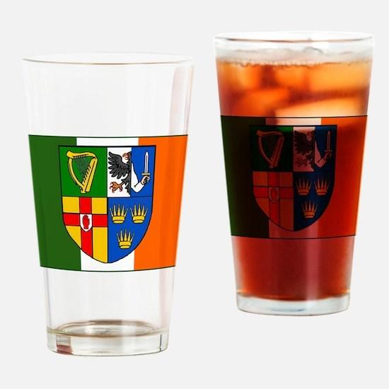 Four Provinces on Irish Flag Pint Glass