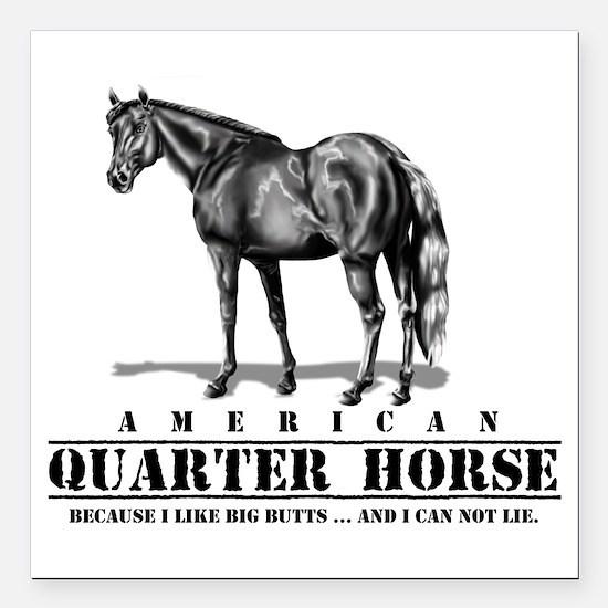 "Cute Horseback riding Square Car Magnet 3"" x 3"""