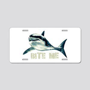 Bite Me Shark Aluminum License Plate