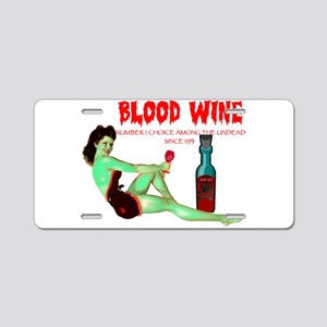 zombie /blood wine Aluminum License Plate