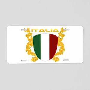 Italia Shield Aluminum License Plate