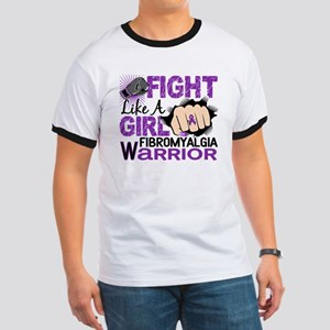 Licensed Fight Like A Girl 20.2 Fibromyal Ringer T