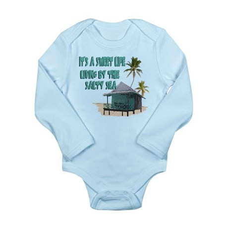 Sweet Life By The Sea Long Sleeve Infant Bodysuit