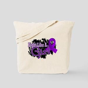 Licensed Fight Like A Girl 17.8 Fibromyal Tote Bag