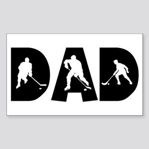 Hockey Dad Rectangle Sticker