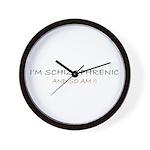 I'm Schizophrenic Wall Clock