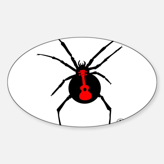 Ukulele Spider Sticker (Oval)