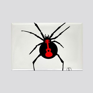 Ukulele Spider Rectangle Magnet