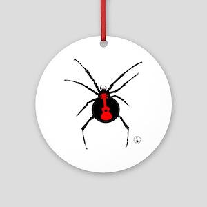 Ukulele Spider Ornament (Round)
