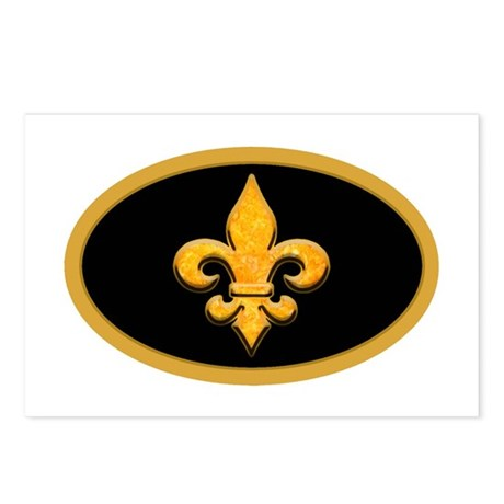 Faux Stone Fleur de lis Postcards (Package of 8)