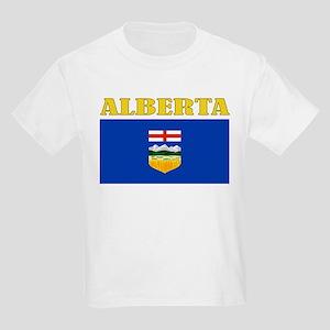 Alberta Flag Kids Light T-Shirt