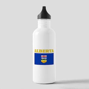 Alberta Flag Stainless Water Bottle 1.0L