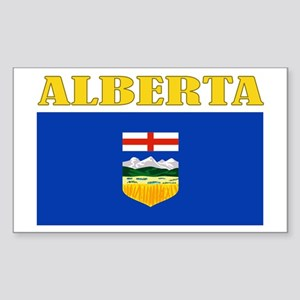 Alberta Flag Sticker (Rectangle)