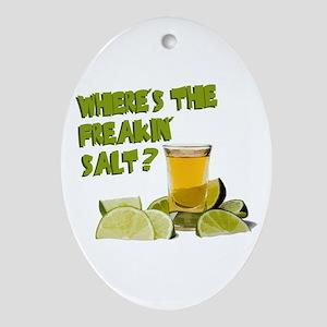 Where's the Salt? Ornament (Oval)