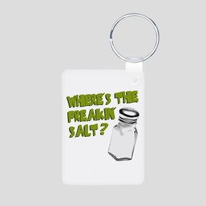 Where's the Salt? Aluminum Photo Keychain