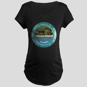Roatan Beach Maternity Dark T-Shirt