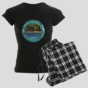 Roatan Beach Women's Dark Pajamas
