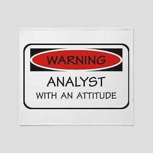 Attitude Analyst Throw Blanket