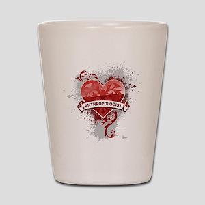 Heart Anthropologist Shot Glass