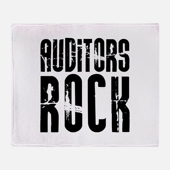 Auditors Rock Throw Blanket