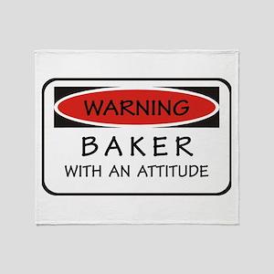 Attitude Baker Throw Blanket