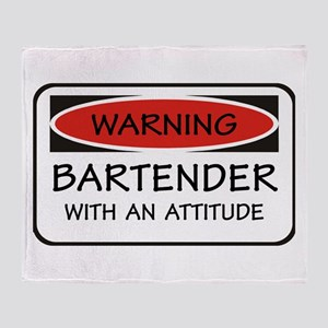 Attitude Bartender Throw Blanket