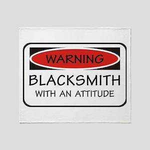 Attitude Blacksmith Throw Blanket