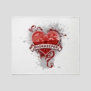 Heart Bookkeeper Throw Blanket