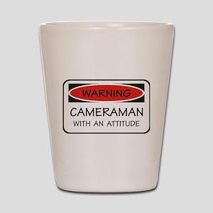 Attitude Cameraman Shot Glass