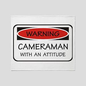 Attitude Cameraman Throw Blanket