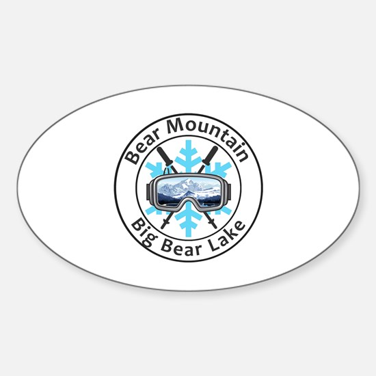 Unique Big bear mountain Sticker (Oval)
