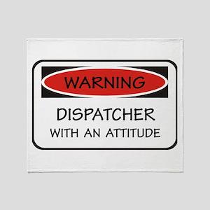 Attitude Dispatcher Throw Blanket