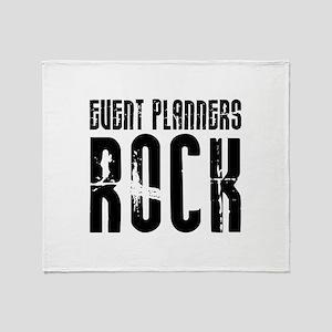 Event Planners Rock Throw Blanket
