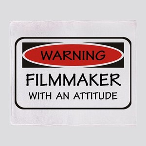 Attitude Filmmaker Throw Blanket