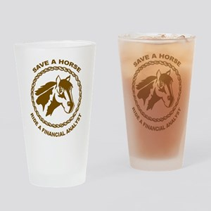 Ride A Financial Analyst Pint Glass