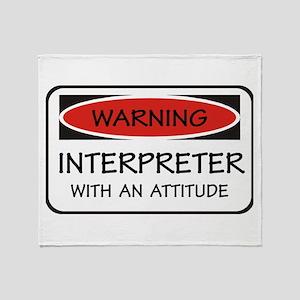 Attitude Interpreter Throw Blanket