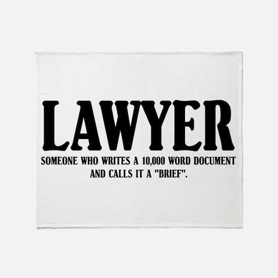 Funny Lawyer Throw Blanket