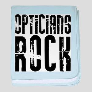 Opticians Rock baby blanket