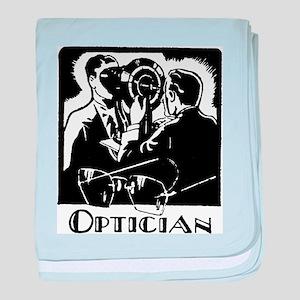 Retro Optician baby blanket