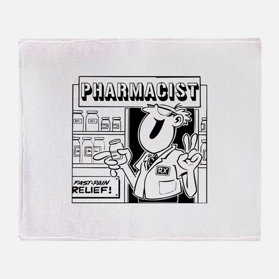 Retro Pharmacist Throw Blanket