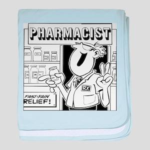 Retro Pharmacist baby blanket