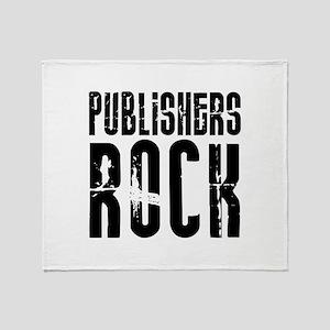 Publishers Rock Throw Blanket